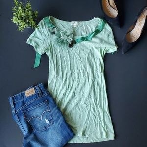 🌼J.crew Green Soft Shirt 100% cotton